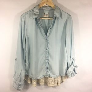 Holding Horses Anthropologie Chambray Lace Back